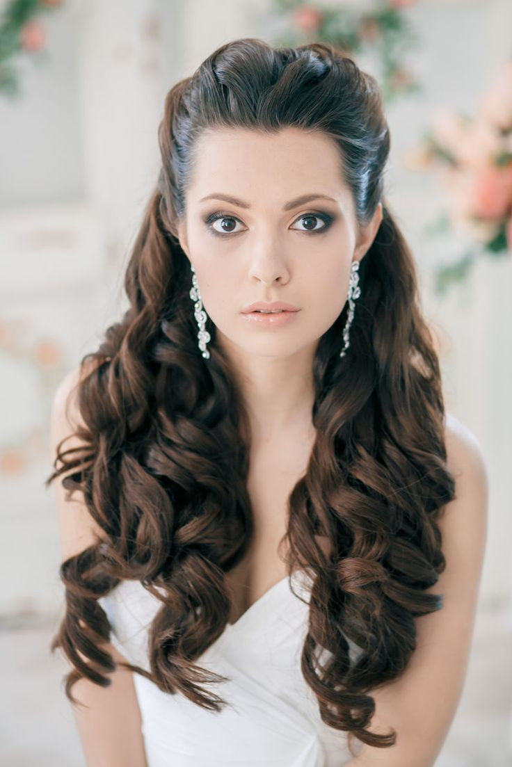 Wedding Hairstyles : Classy and Elegant Black Half Up Half Down Wavy ...