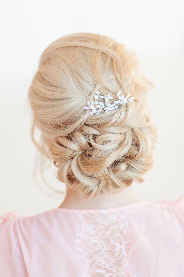 elegant wedding updo hair