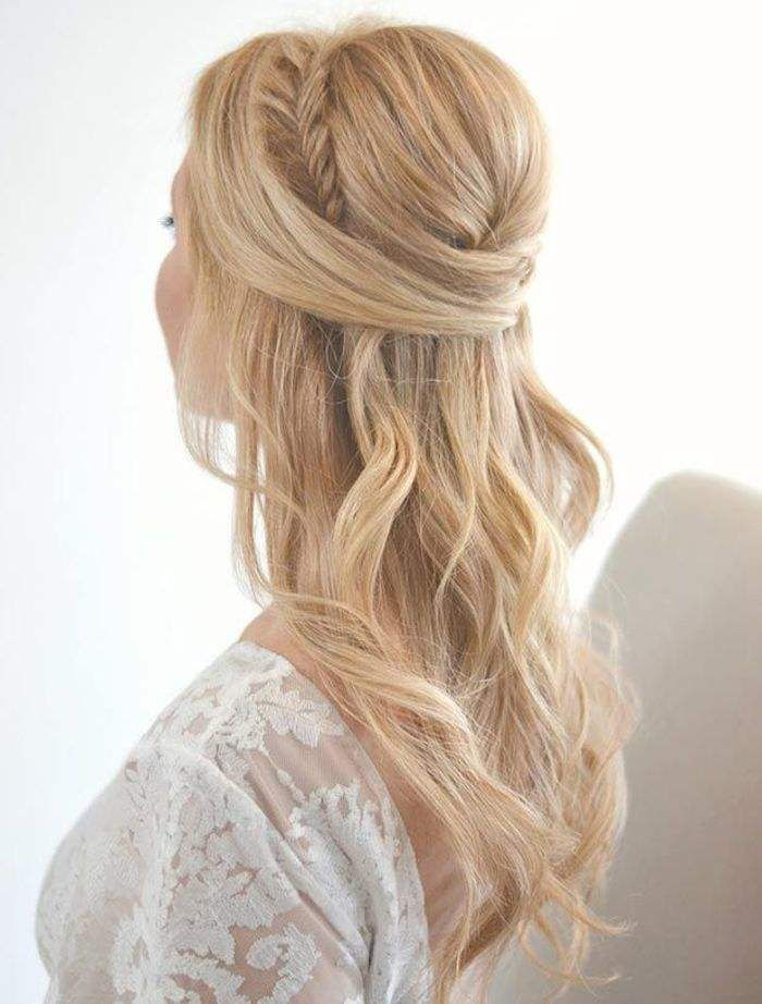 Wedding Hairstyles : long wedding hairstyle with gorgeous side braid ...