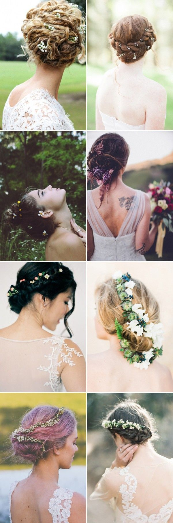 wedding updos with flowers / www.himisspuff.co...