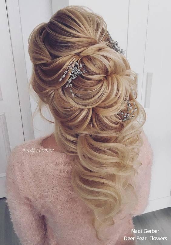 Nadi Gerber long wavy wedding hairstyles #weddings #hairstyles #weddinghairstyle...