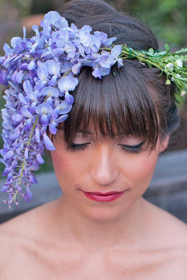18 Chic Wedding Hairstyles With Bangs ❤ See more: www.weddingforwar... #weddin...
