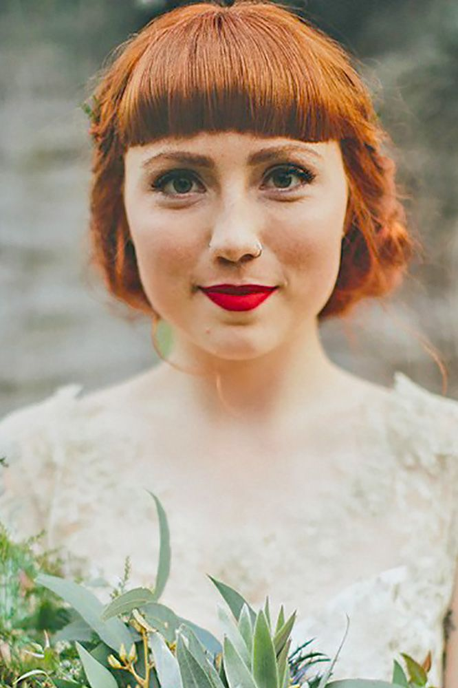 18 Chic Wedding Hairstyles With Bangs ❤ See more: www.weddingforwar... #weddin...