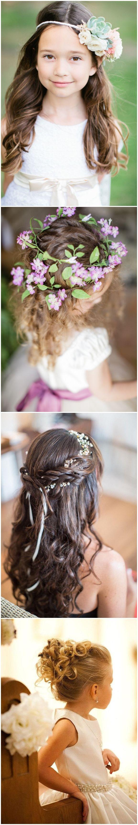 cute little girl hairstyles-updos, braids, waterfall / www.deerpearlflow...