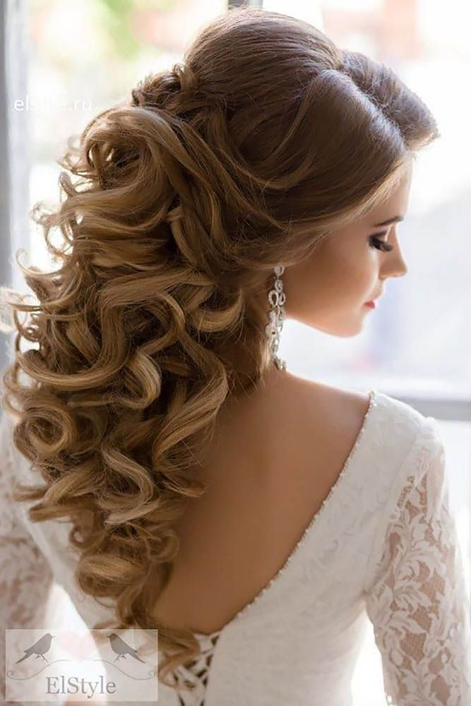 Bridal Hairstyles 30 Stunning Half Up Half Down Wedding Hairstyles See More Www Weddingforwar Beauty Haircut Home Of Hairstyle Ideas Inspiration Hair Colours Haircuts Trends
