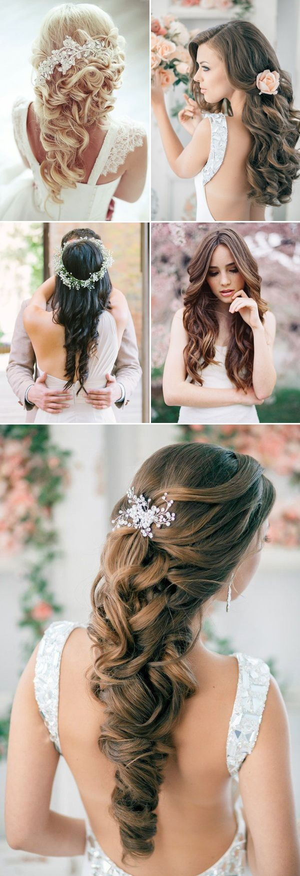 Soft & loose down wedding hairstyles for long hair / www.deerpearlflow...