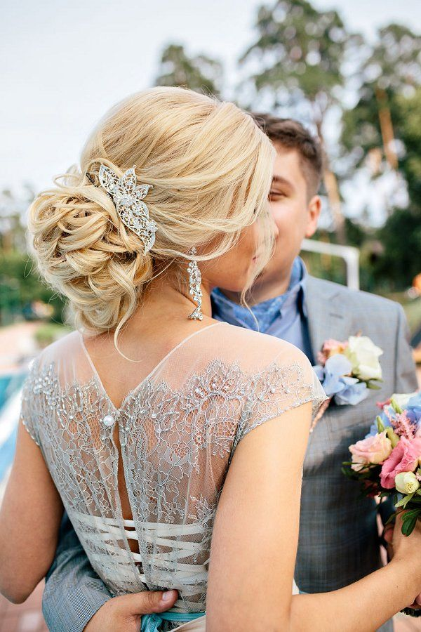 elegant wedding updo hairstyle for brides / www.deerpearlflow...