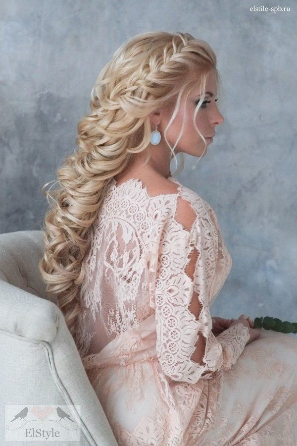 Bridal Hairstyles French Braided Long Bridal Hairstyle With