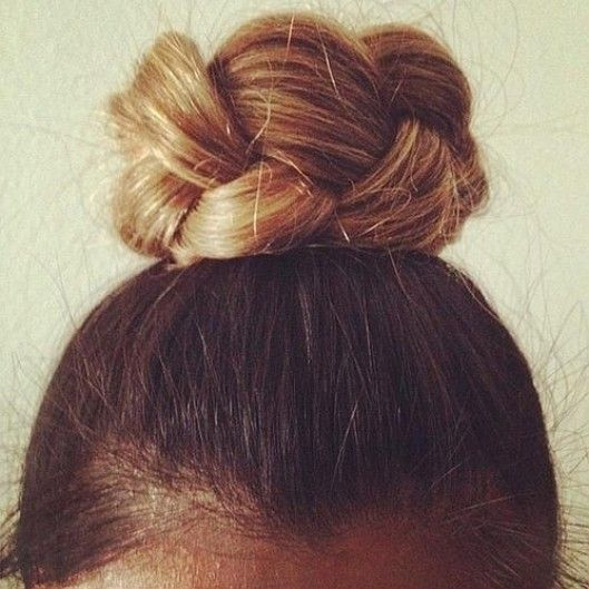 simple braided bun // this is stunning