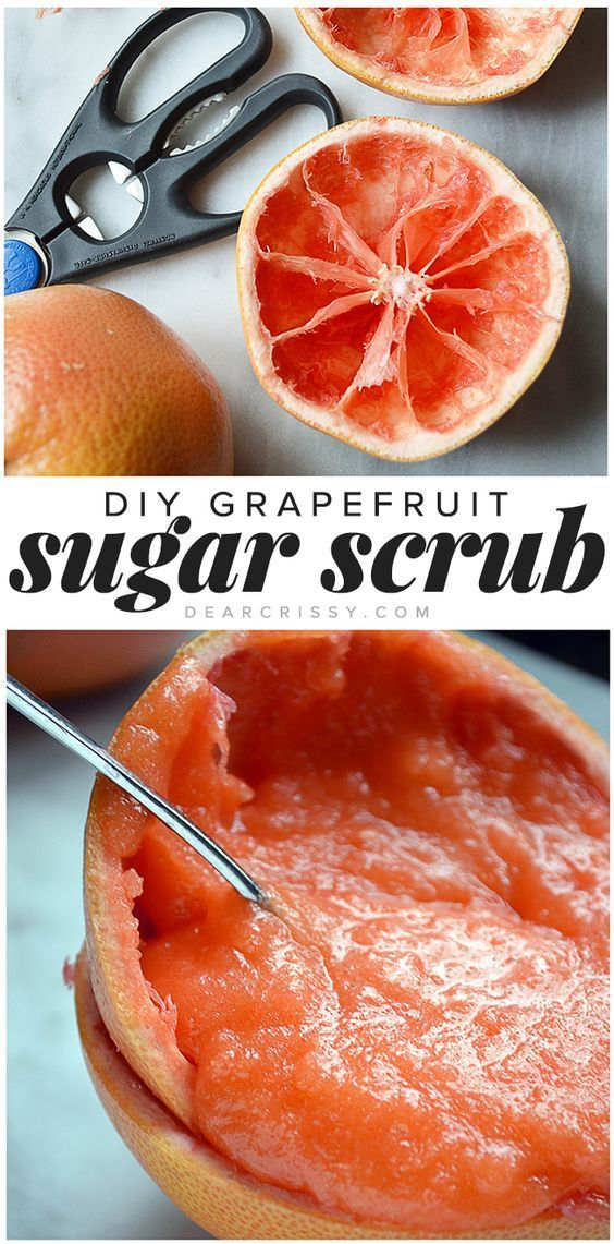 DIY Grapefruit Sugar Scrub - Exfoliate dead skin cells  and renew damaged skin w...