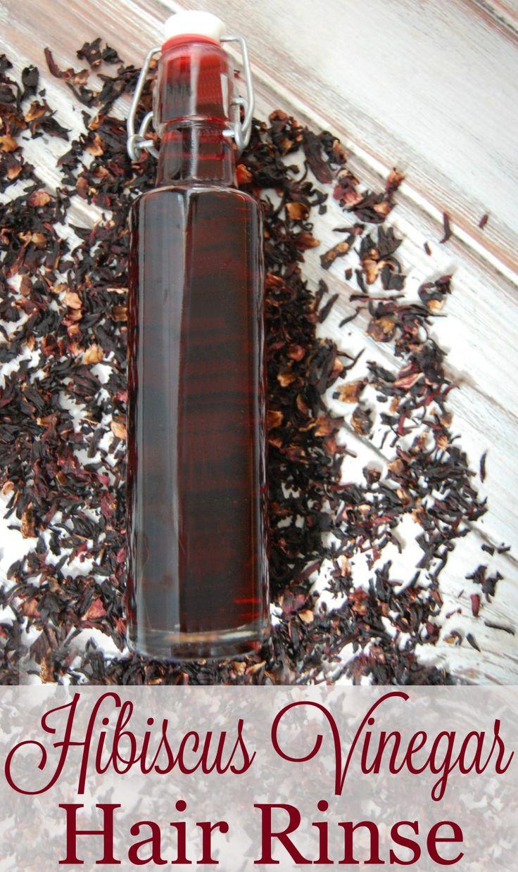 Hibiscus Vinegar Hair Rinse- Hibiscus has been said to help prevent premature gr...