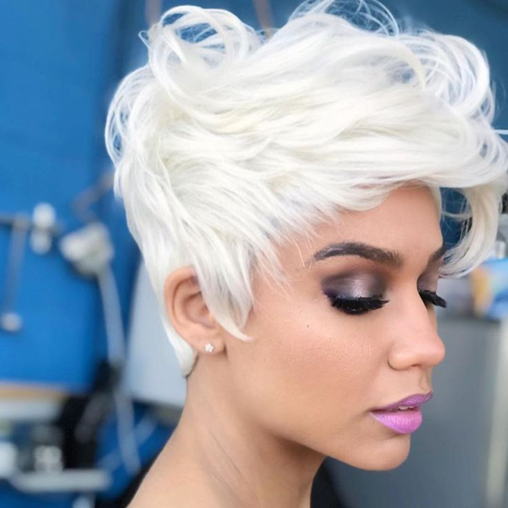 Edgy Icy Blonde @alexis__pravato by stylist @christinabenjamin82 - blackhairinfo...