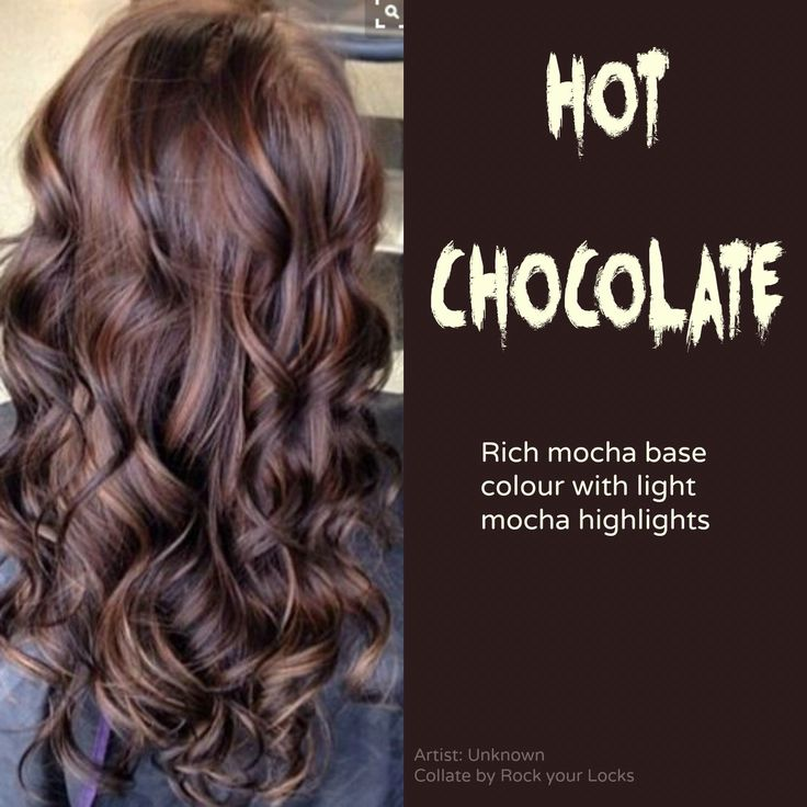 Trendy Hair Color Highlights Hot Chocolate Hair Color Usually I