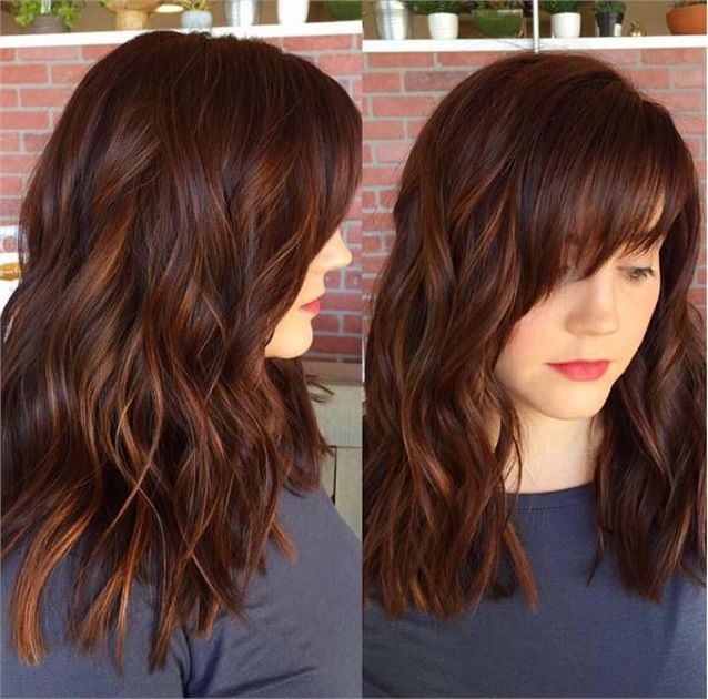 Trendy Hair Color Highlights Spicy Auburn Color With Dimension