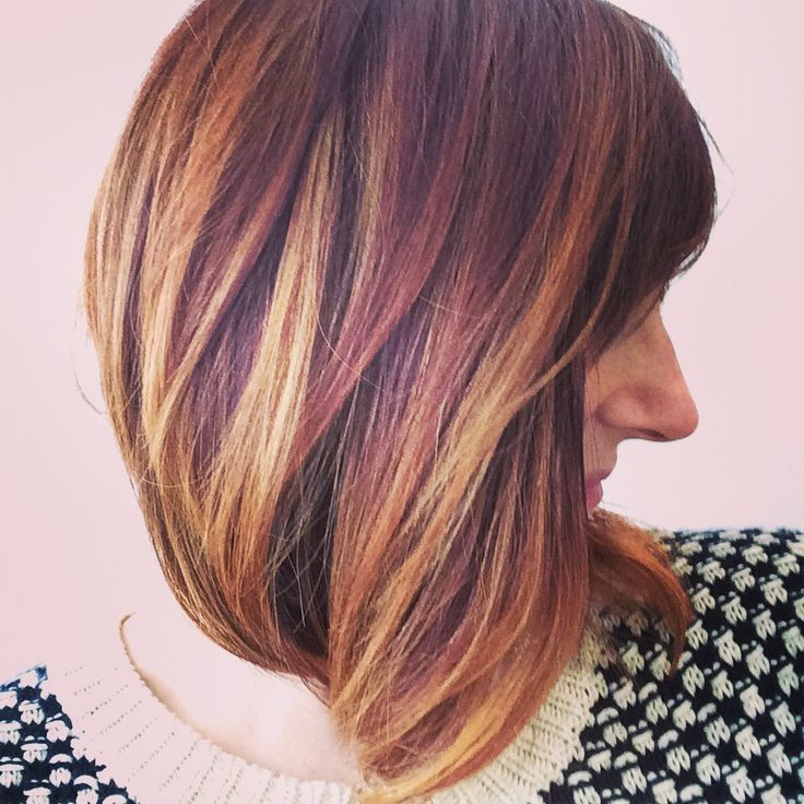 Transitioning from Auburn to Copper with loads of gold highlights.