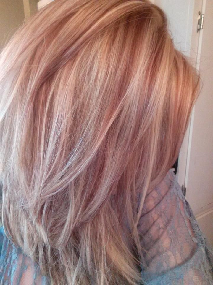 Trendy Hair Color Highlights Rose Gold Lowlights Google Search