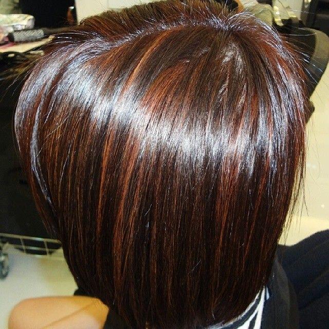 Trendy Ideas For Hair Color Highlights Deep Mahogany In Caramel