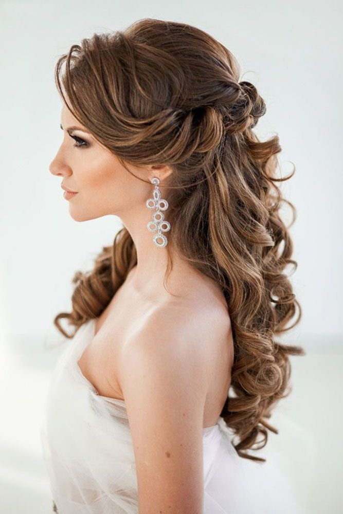 42 Half Up Half Down Wedding Hairstyles Ideas We have collected the best half up...