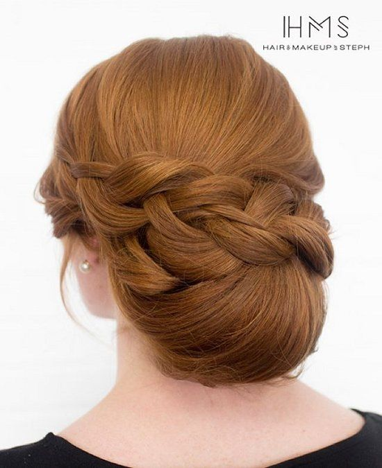 Chignon Bun Hairstyles for wedding 1