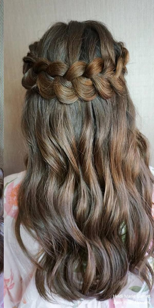 Half up half down wedding hairstyles from Heidi Marie Garrett #weddings #hairsty...