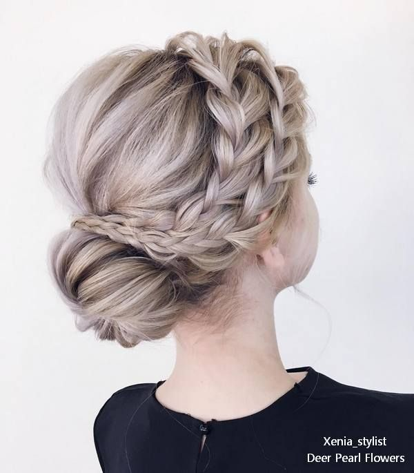 Braided wedding updo hairstyles from xenia_stylist  #weddings #weddingideas #wed...