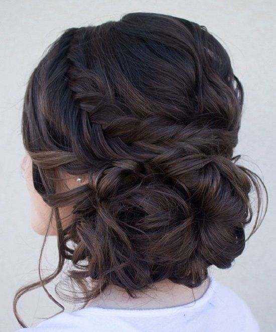 Chignon Bun Hairstyles for wedding 15