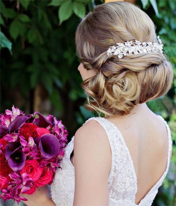 Top 25 Stylish Bridal Wedding Hairstyles for Long Hair | www.deerpearlflow...