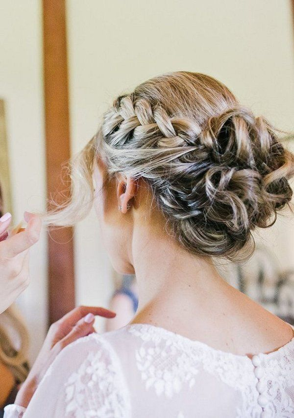 braided bun wedding hairstyle for long hair / www.deerpearlflow...