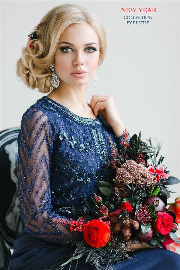 loose low wedding updo picture