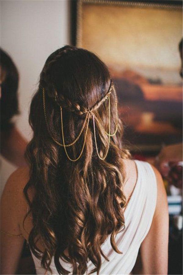 waterfall long hairsytyle for wedding / www.meetthebestyo...