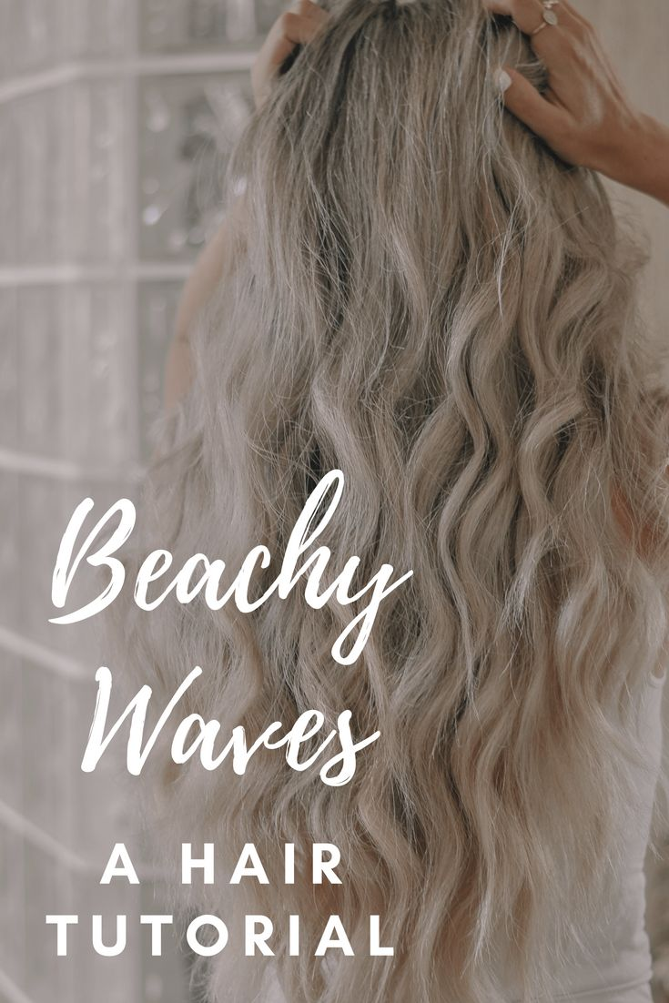 Beachy waves tutorial. I get asked alllllll the time how I curl my hair so today...