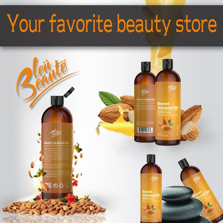 Bluecrest LLC Bleu Beaute Sweet Almond Oil is nourishing, hydrating and is extre...