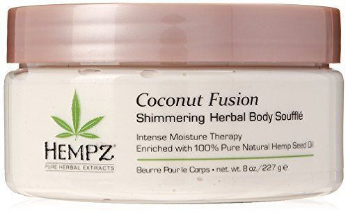 Hempz Coconut Fusion Herbal Shimmering Body Souffle -- Click image for more deta...