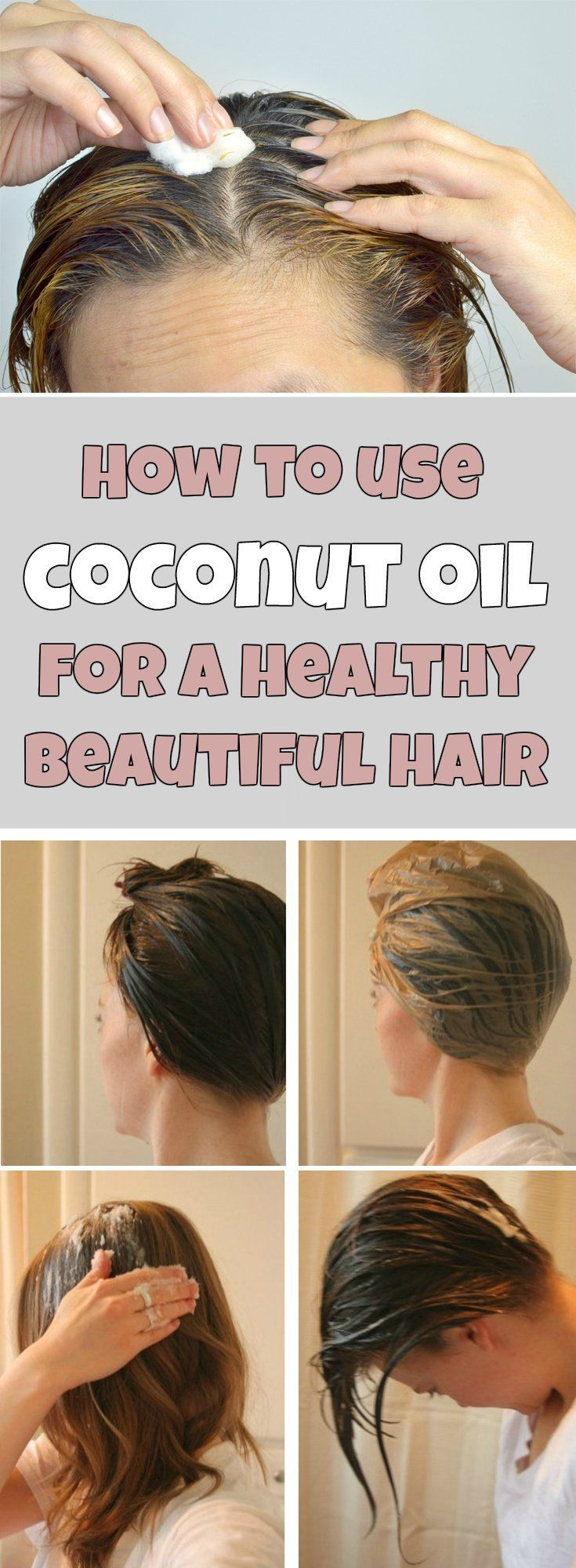 How to use coconut oil for a healthy beautiful hair #haircare