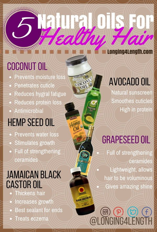 #L4LHair Tip Tuesday 5 Healthy Hair Oils - Oils to Grow Long Hair, Hot Oil Treat...