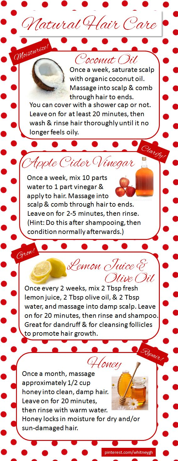 Natural Hair Care // I use all of these treatments regularly, so I created this ...
