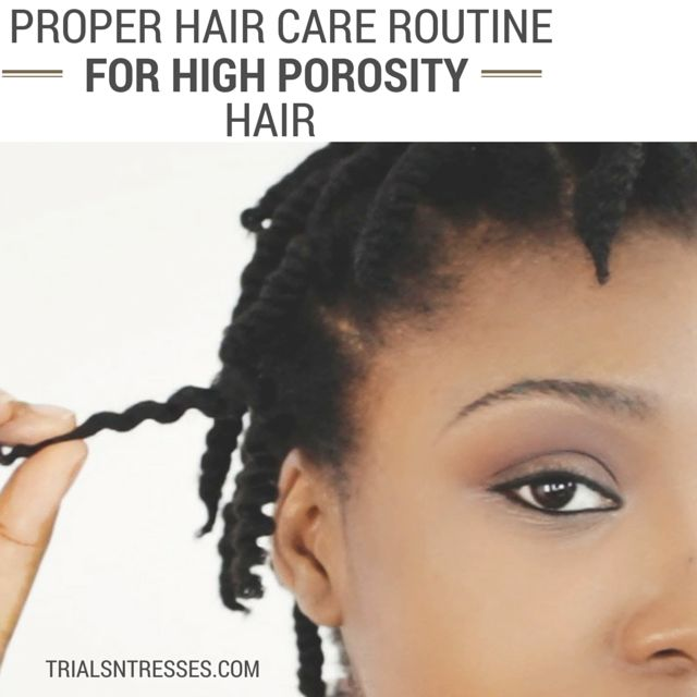 Proper Hair Care Routine for high porosity hair!  #naturalhaircare #trialsntress...