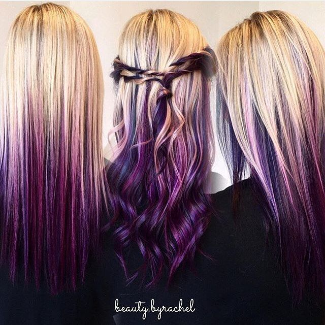 We can't get enough of this blonde to purple melt by Beauty.byrachel