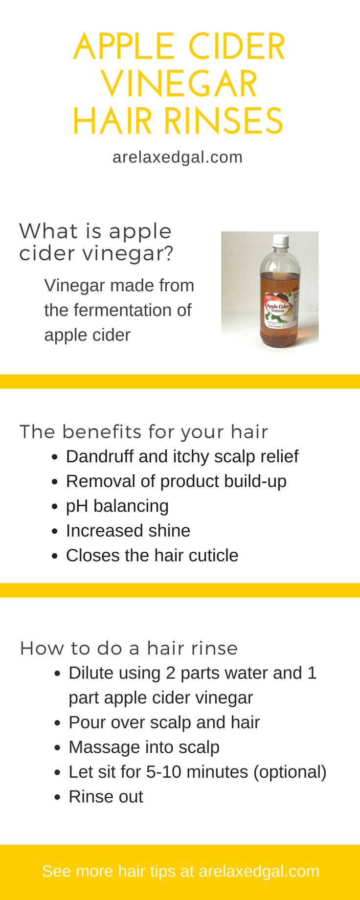 Why I Rinse My Hair with Apple Cider Vinegar | Apple Cider Vinegar is a natural ...