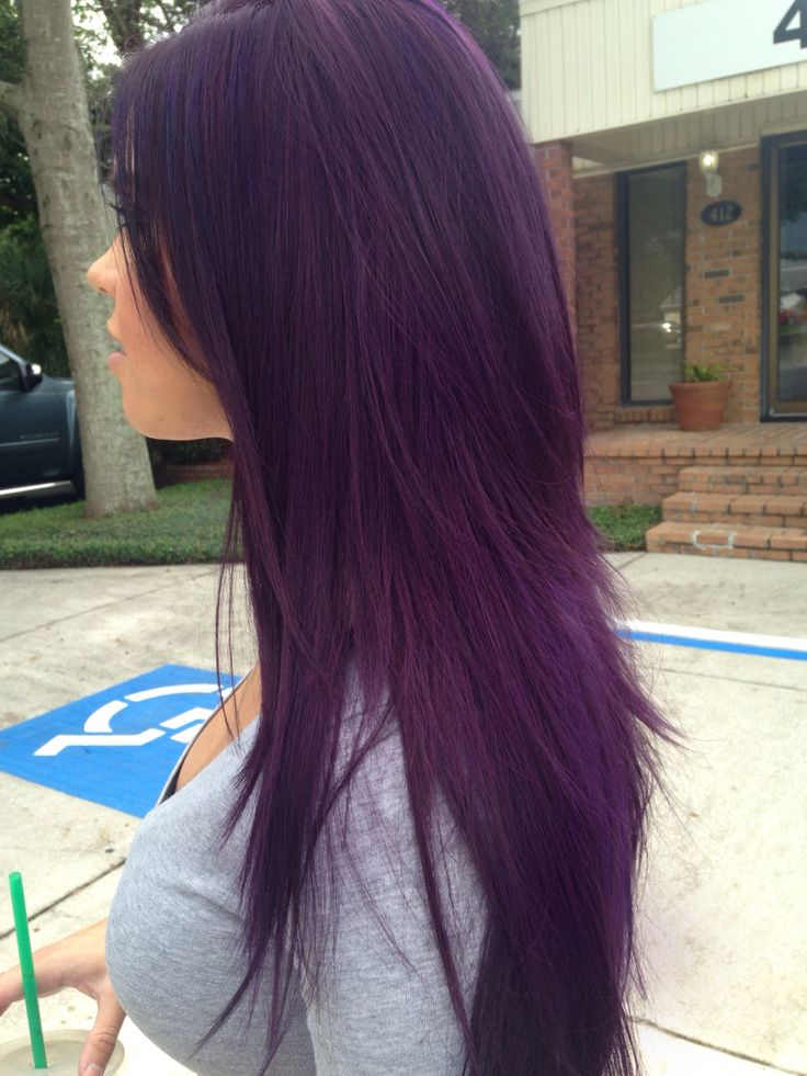 My purple hairstyle. Perfect for fall! I love it