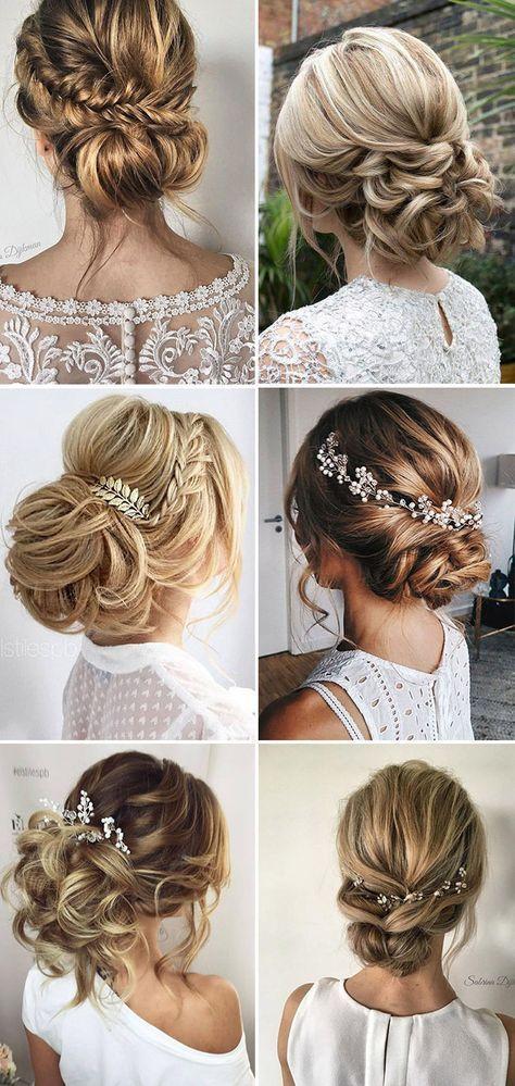 Loose Updo Bridal & Wedding Hairstyle Ideas #weddings #hairstyles #weddingideas ...
