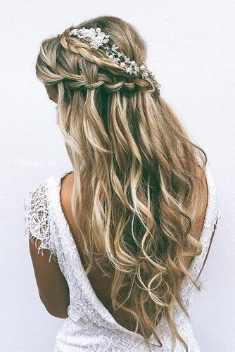 Wedding Hairstyles For Long Hair - Waterfall Braids: