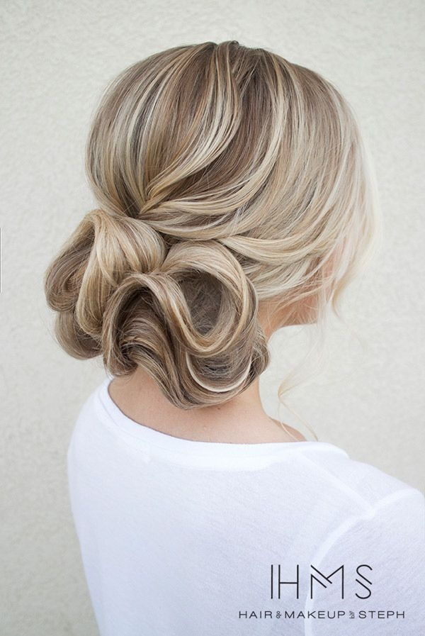 wedding hairstyle; Hair and Makeup by Steph