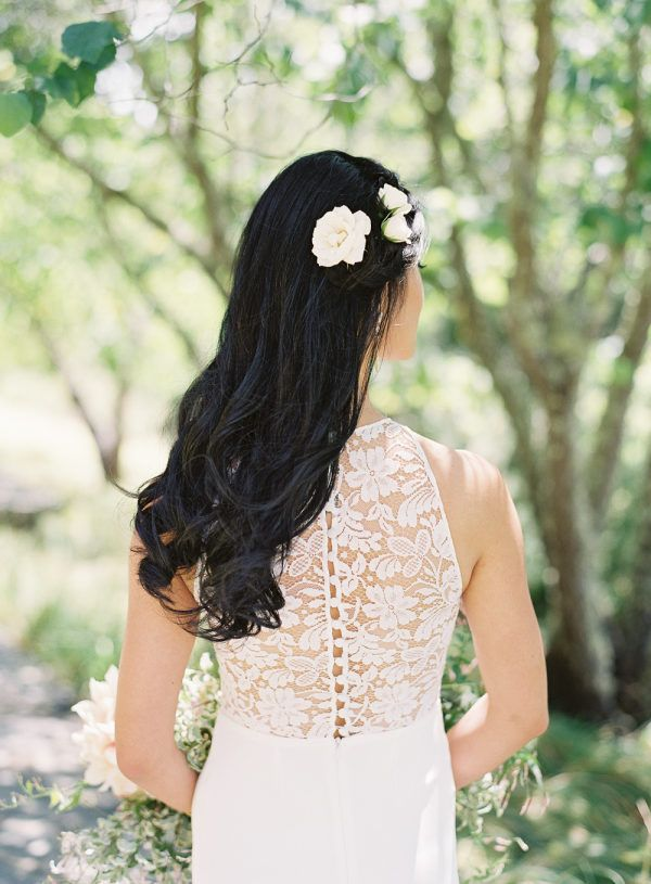 Featured Photographer: Carlie Statsky Photography; Wedding hairstyles ideas.