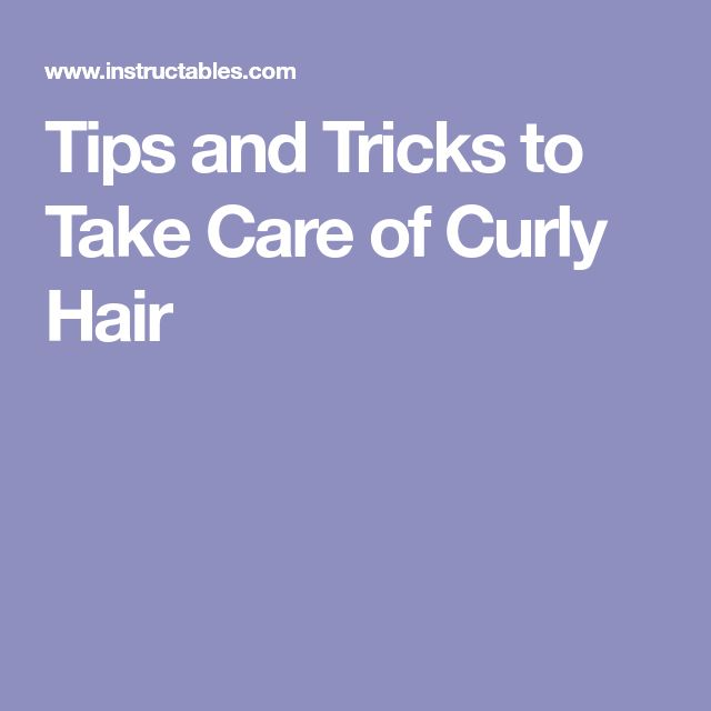 Tips and Tricks to Take Care of Curly Hair #haircarecurly