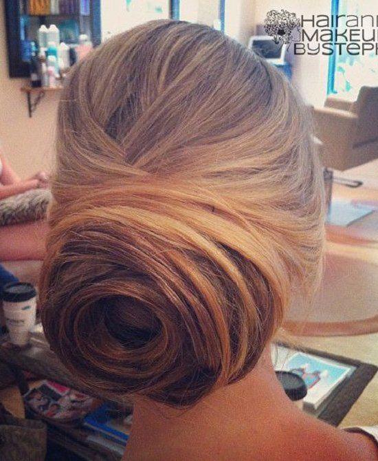 Chignon Bun Hairstyles for wedding 19