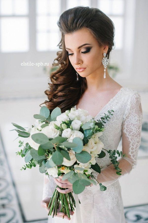 Bridal Hairstyles Rustic Simple Wedding Hairstyle And Long Sleeves