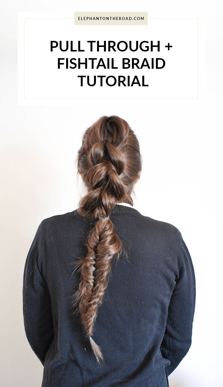 Pull Through And Fishtail Braid Tutorial. Elephant on the Road.