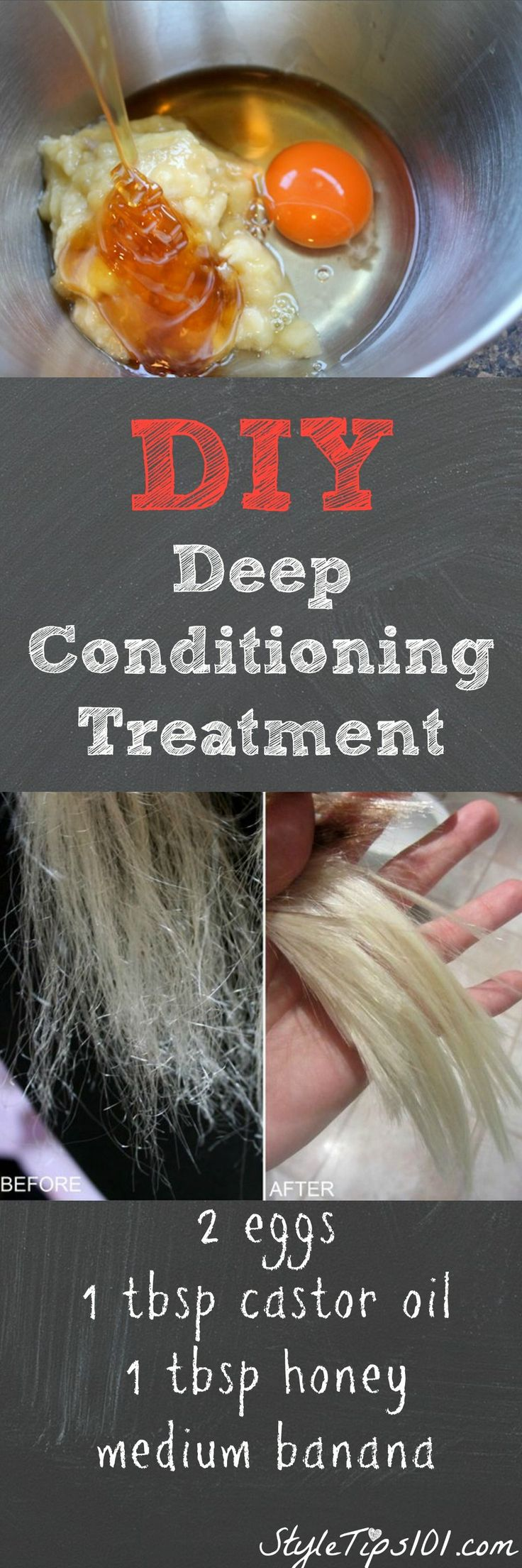 DIY Deep Conditioning Treatment #haircarediy