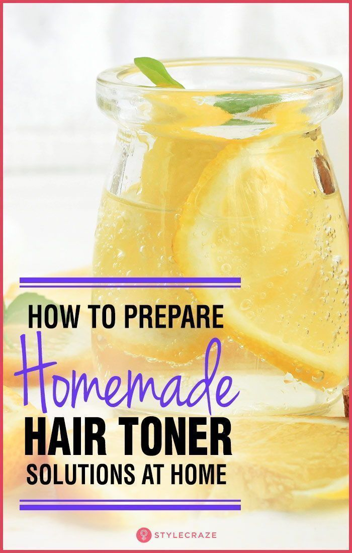 How To Prepare Homemade Hair Toner Solutions At Home.  Hair| Healthy Hair| Hair ...